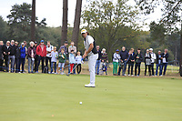 Gavin Green (MAS) on the 13th green during Round 3 of the Sky Sports British Masters at Walton Heath Golf Club in Tadworth, Surrey, England on Saturday 13th Oct 2018.<br /> Picture:  Thos Caffrey | Golffile
