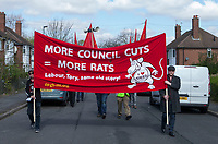 Demo against Birmingham City Council's Council Tax and Refuse collectors wage cuts 2nd April 2017