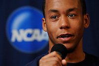 Virginia Cavaliers T.J. Cyrus (4) during a press conference the day prior to the finals of the 2009 NCAA Men's College Cup at WakeMed Soccer Park in Cary, NC on December 12, 2009.