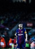 4th November 2017, Camp Nou, Barcelona, Spain; La Liga football, Barcelona versus Sevilla; Leo Messi waits for the play to restart