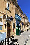 Police station and village post office, Zebbug, island of Gozo, Malta