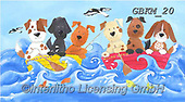 Kate, CUTE ANIMALS, LUSTIGE TIERE, ANIMALITOS DIVERTIDOS, paintings+++++ALL AT SEA CATS 1,GBKM20,#ac#, EVERYDAY ,puzzle,puzzles