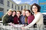 Students from Gael Colaiste Chiarraí, Tralee, who sat the  higher level English paper 1 Leaving Certificate on  Wednesday morning were  l-r: Niomi Ní Mhuirchiú, Clodagh Ní Shuilleabhain (Tralee) Ruth Ní Hógáin (Castlegregory) Megan An Chnoic, Cáit Ní Dhonnchú (Tralee) with Lisa De Róiste (Teacher).