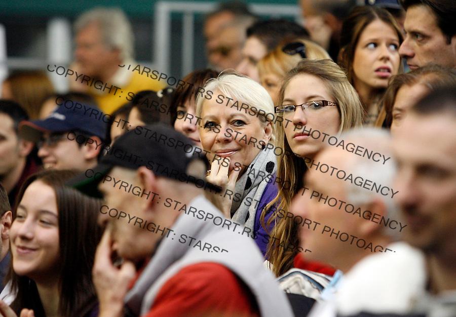 Tennis.Gemax Open 2010, FINAL.Ilija Bozoljac Vs. Karol Beck (SVK).Fans, supporters, navijaci, publika.Belgrade, 19.02.2010..foto: Srdjan Stevanovic©
