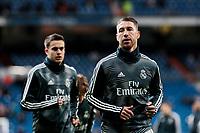 Real Madrid's Sergio Ramos during La Liga match between Real Madrid and Valencia CF at Santiago Bernabeu Stadium in Madrid, Spain. December 01, 2018. (ALTERPHOTOS/A. Perez Meca) /NortePhoto NORTEPHOTOMEXICO