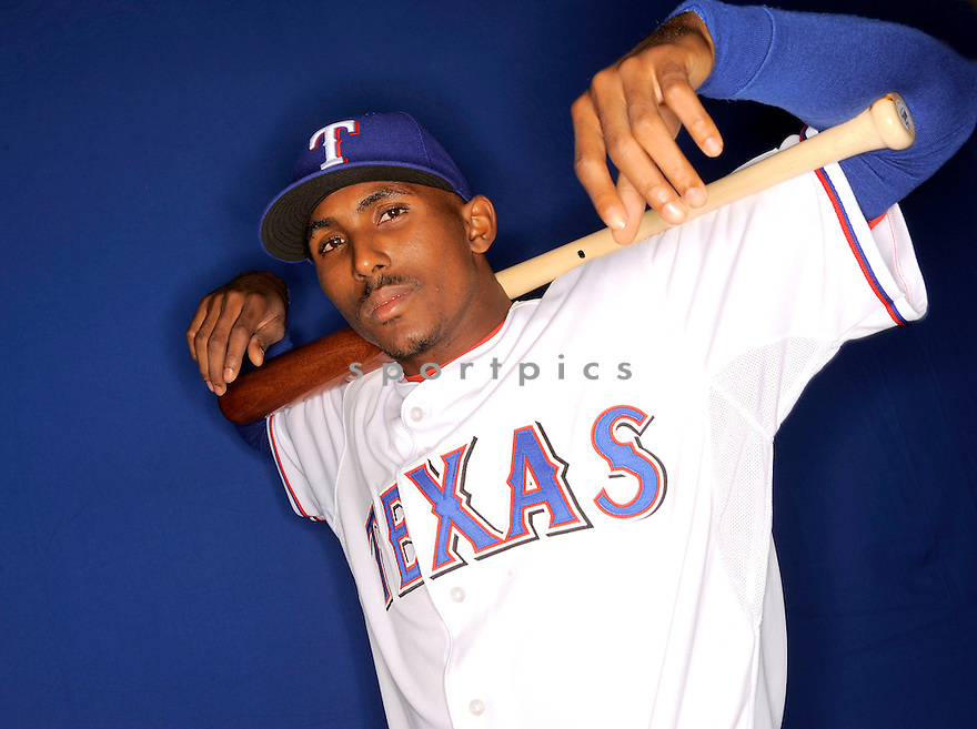 JOAQUIN ARIAS, of the Texas Rangers, during photo day of spring training and the Ranger's training camp in Surprise, Arizona on February 24, 2009.
