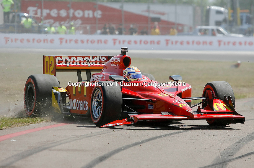 April 5, 2009: Graham Rahal in the McDonald's car swerves back on track after turn one in the start of the 2009 IRL IndyCar Series Honda Grand Prix of St.Petersburg on the streets of St. Petersburg, Florida