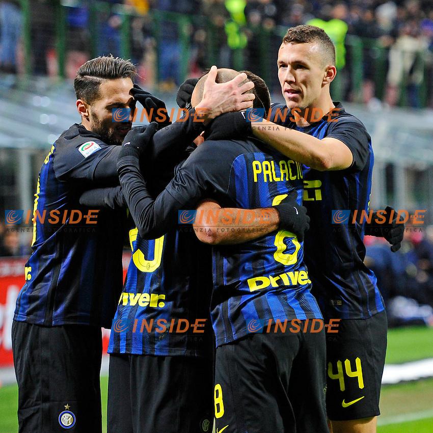Esultanza gol di Eder Inter 3-1. Celebration goal <br /> Milano 14-01-2017 Stadio Giuseppe Meazza - Football Calcio Serie A Inter - Chievo Verona. Foto Giuseppe Celeste / Insidefoto