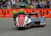 Tim Reeves and Mark Wilkes (UK) compete in F1 Sidercars race one. The 2017 Suzuki series Cemetery Circuit motorcycle racing at Cooks Gardens in Wanganui, New Zealand on Tuesday, 27 December 2017. Photo: Dave Lintott / lintottphoto.co.nz