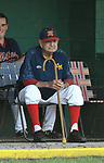 Vern Moehrs, longtime manager of the Waterloo Millers men's baseball team, watches at the 48th Annual Valmeyer Mid-Summer Baseball Classic Tournament in Valmeyer, IL on July 4, 2019. <br /> Photo by Tim Vizer