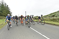 Picture by Allan McKenzie/SWpix.com - 04/09/2017 - Cycling - OVO Energy Tour of Britain - Stage 2 Kielder Water to Blyth - The race rolls out of Kielder Water.