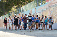 Photo from OxyEngage 2011, The Great Wall of Los Angeles mural. Hosted by Occidental College's Office of Student Life, the program is for incoming students. August 24, 2011. (Photo by Marc Campos, Occidental College Photographer)