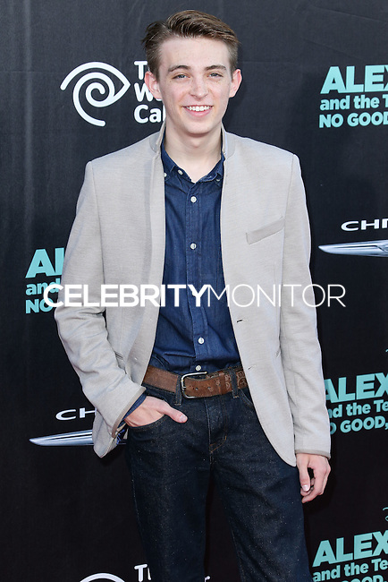 HOLLYWOOD, LOS ANGELES, CA, USA - OCTOBER 06: Dylan Riley Snyder arrives at the World Premiere Of Disney's 'Alexander And The Terrible, Horrible, No Good, Very Bad Day' held at the El Capitan Theatre on October 6, 2014 in Hollywood, Los Angeles, California, United States. (Photo by Xavier Collin/Celebrity Monitor)