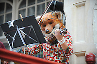 Pictured: Saturday 17 September 2016<br /> Re: Roald Dahl's City of the Unexpected has transformed Cardiff City Centre into a landmark celebration of Wales' foremost storyteller, Roald Dahl, in the year which celebrates his centenary.<br /> The Fox String Quartet play in Castle Arcade, Cardiff city centre.