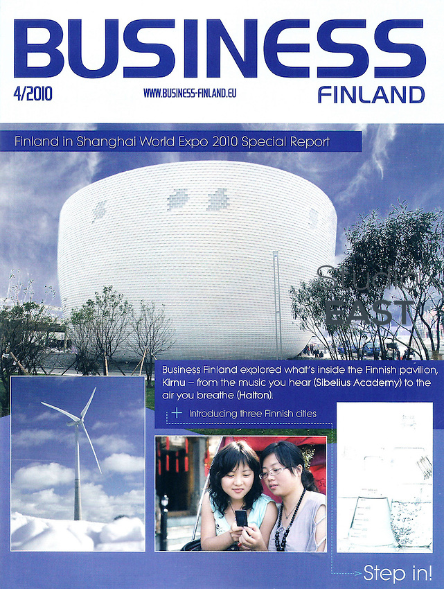 Cover page of Business Finland, April 2010. Photo by Lucas Schifres/Pictobank