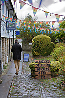 Pictured: A man walks through a path in Cowbridge, Wales, UK. Wednesday 06 November 2019<br /> Re: People in Cowbridge share their views after the Vale of Glamorgan MP Alun Cairns announced that he has resigned from his role as a Secretary for Wales.