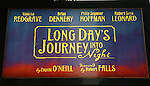Long Days Journey Into Night by Eugene O'Neill<br /> ( Theatre Marquee )<br /> Starring Vanessa Redgrave, Brian Dennehy, Phillip<br /> Seymour Hoffman and Robert Sean Leonard<br /> Directed by Robert Falls<br /> Plymouth Theatre, Broadway, New York City.<br /> March 2003