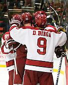 - The Harvard University Crimson defeated the visiting Clarkson University Golden Knights 3-2 on Harvard's senior night on Saturday, February 25, 2012, at Bright Hockey Center in Cambridge, Massachusetts.