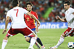 Spain's David Silva and Georgia's Abujarnia during the up match between Spain and Georgia before the Uefa Euro 2016.  Jun 07,2016. (ALTERPHOTOS/Rodrigo Jimenez)
