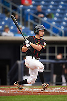 Quad Cities River Bandits catcher Garrett Stubbs (17) at bat during the first game of a doubleheader against the Wisconsin Timber Rattlers on August 19, 2015 at Modern Woodmen Park in Davenport, Iowa.  Quad Cities defeated Wisconsin 3-2.  (Mike Janes/Four Seam Images)