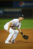 Peoria Chiefs third baseman Paul DeJong (7) during a game against the Wisconsin Timber Rattlers on August 21, 2015 at Dozer Park in Peoria, Illinois.  Wisconsin defeated Peoria 2-1.  (Mike Janes/Four Seam Images)