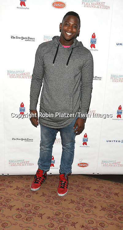 Jelani Remy attends the Broadway Cares/Equity Fights Aids Flea Market and Grand Auction on September 25, 2016 at the Music Box Theatre and in Shubert Ally in New York, New York, USA. <br /> <br /> photo by Robin Platzer/Twin Images<br />  <br /> phone number 212-935-0770