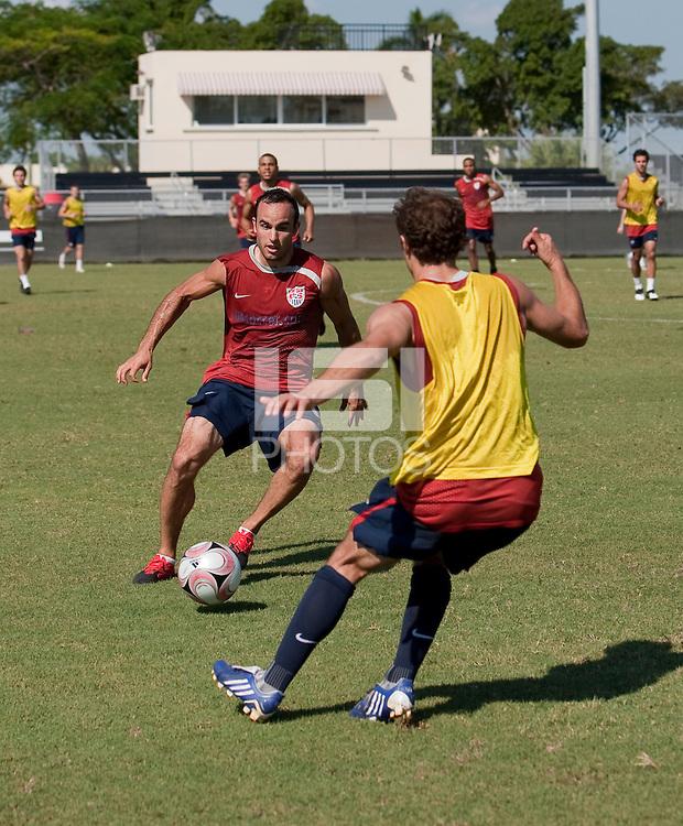 Landon Donovan. U.S. Men's National Team training in San Pedro Sula, Honduras.