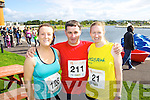 Siobhan Lynch, Brendan and Sandra Byrne pictured at the Rose of Tralee International 10k Race in Tralee on Sunday.