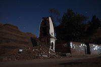 A destroyed temple in Bhaktapur, near Kathmandu, Nepal. May 04, 2015