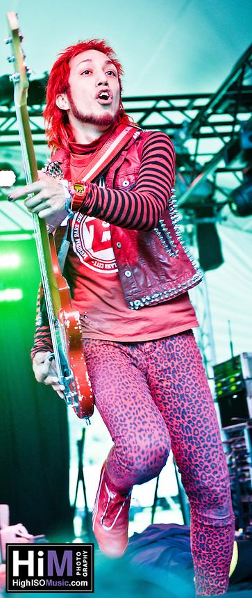 Peelander-Z playing at the 2011 Voodoo Festival in New Orleans, LA.
