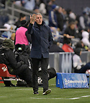 Peter Vermes, coach of Sporting KC, gestures to his team. Sporting KC hosted Club Atletico Independiente in a CONCACAF Champions League quarterfinal game at Children's Mercy Park on March 14, 2019.