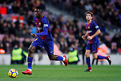 7th January 2018, Camp Nou, Barcelona, Spain; La Liga football, Barcelona versus Levante; Ousmane Dembélé of FC Barcelona runs with the ball as Barcelona go on the attack