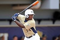4 March 2012:  FIU outfielder Jabari Henry (14) bats as the FIU Golden Panthers defeated the Brown University Bears, 8-3, at University Park Stadium in Miami, Florida.