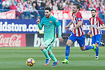 Leo Messib- in action during the match of Spanish La Liga between Atletico de Madrid and Futbol Club Barcelona at Vicente Calderon Stadium in Madrid, Spain. February 26, 2017. (Rodrigo Jimenez / ALTERPHOTOS)