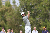 Lucas Bjerregaard (DEN) on the 4th tee during Round 1 of the Omega Dubai Desert Classic, Emirates Golf Club, Dubai,  United Arab Emirates. 24/01/2019<br /> Picture: Golffile | Thos Caffrey<br /> <br /> <br /> All photo usage must carry mandatory copyright credit (&copy; Golffile | Thos Caffrey)