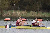Caversham. Berkshire. UK<br /> Men's pair, Henry SWARBRICK and James STANHOPE, competing at the 2016 GBRowing U23 Trials at the GBRowing Training base near Reading, Berkshire.<br /> <br /> Monday  11/04/2016 <br /> <br /> [Mandatory Credit; Peter SPURRIER/Intersport-images]