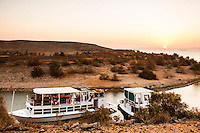 There are many travelling companies organizing cruises along Lake Nasser