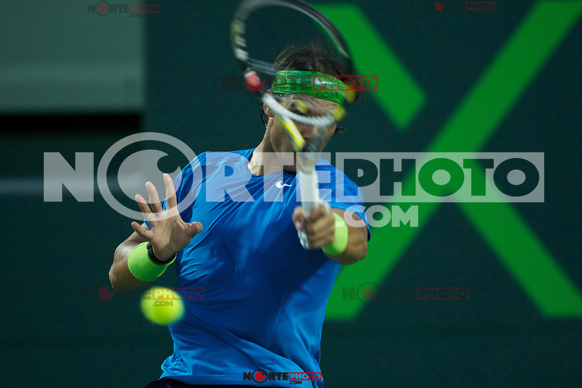KEY BISCAYNE, FL - MARCH 25: Rafael Nadal competes during Day 7 of the Sony Ericsson Open in Miami on March 25th, 2012 in Key Biscayne, FL. ( Photo by Chaz Niell/Media Punch Inc.)