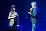 "Sergio Dalma and Vanessa Martin attends the ""POR ELLAS"" Concert of Cadena 100 at Barclaycard Center in Madrid, Spain. November 7, 2014. (ALTERPHOTOS/Carlos Dafonte)"