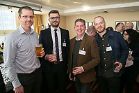From left are Ben Sarton of SLR Consulting, Adam Kingswood of Kingswood Residential, Richard Wilson of DB Woodand Adam Head of Fuse Design