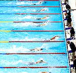 Engeland, London, 2 Augustus 2012.Olympische Spelen London.Ranomi Kromowidjojo tikt als eerste aan en pakte donderdagavond in het volgepakte Aquatic Centre de gouden Medaille op de 100 meter vrije slag