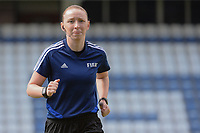 20190304 - LARNACA , CYPRUS : Scottish assistant referee Kylie Cockburn pictured during a women's soccer game between Czech Republic and South Africa , on Monday 4 March 2019 at the Antonis Papadopoulos Stadium in Larnaca , Cyprus . This is the third game in group A for Both teams during the Cyprus Womens Cup 2019 , a prestigious women soccer tournament as a preparation on the Uefa Women's Euro 2021 qualification duels. PHOTO SPORTPIX.BE | STIJN AUDOOREN