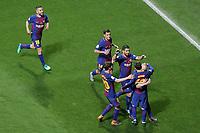 FC Barcelona's Jordi Alba, Philippe Coutinho, Sergi Roberto, Luis Suarez, Leo Messi and Andres Iniesta celebrate goal during Spanish King's Cup Final match. April 21,2018. (ALTERPHOTOS/Acero)
