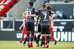 Jubel 0:1 Werder Eigentor Norman Theuerkauf (1. FC Heidenheim 1846 #30), Theodor Gebre Selassie (Werder Bremen #23), Milot Rashica (Werder Bremen #07)<br /> <br /> <br /> Sport: nphgm001: Fussball: 1. Bundesliga: Saison 19/20: Relegation 02; 1.FC Heidenheim vs SV Werder Bremen - 06.07.2020<br /> <br /> Foto: gumzmedia/nordphoto/POOL <br /> <br /> DFL regulations prohibit any use of photographs as image sequences and/or quasi-video.<br /> EDITORIAL USE ONLY<br /> National and international News-Agencies OUT.