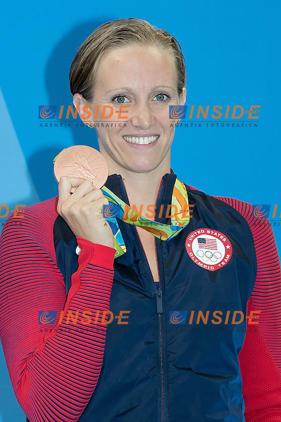 Vollmer Dana USA bronze medal<br /> 100 butterfly women<br /> Rio de JaneiroXXXI Olympic Games <br /> Olympic Aquatics Stadium <br /> Swimming finals 07/08/2016<br /> Photo Giorgio Scala/Deepbluemedia/Insidefoto
