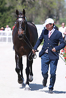 LEXINGTON, KY - April 26, 2017. #5 I'm Sew Ready and Phillip Dutton from the USA at the Rolex Three Day Event First Horse Inspection at the Kentucky Horse Park.  Lexington, Kentucky. (Photo by Candice Chavez/Eclipse Sportswire/Getty Images)