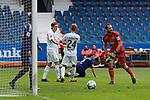 16.07.2017, Stadion an der Bremer Bruecke, Osnabrueck, GER, FSP VfL Osnabrueck vs SV Werder Bremen<br /> <br /> im Bild<br /> Aron J&oacute;hannsson / Johannsson (Werder Bremen #9) bejubelt seinen Treffer zum 0:1 mit Johannes Eggestein (Werder Bremen #24), Marius Gersbeck (VfL Osnabrueck #21),<br /> <br /> Foto &copy; nordphoto / Ewert