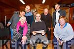 Taking part in an Old Traditional Gaelic Comedy Workshop with Noel Ó Maoileoin on Monday at the Comhchoiste, Kenneigh were front l-r; Bríd Uí Bhraonáin, Noel Ó Maoileoin, Eibhlín Uí Chorbhuí, back l-r; Aine Uí Bheoláin, Victor Bayda, Fiona de Buis, Paddy de Buis agus Mícheál ÓSé.