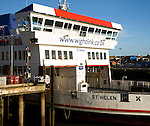 St Helen Wightlink ferry ship, Portsmouth harbour, Hampshire, England