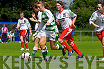 Niamh Carmody of Listowel Celtic launches an attack against Kilmore Ladies FC in the Cup semi final played last Sunday in Pat Kennedy Park, Listowel.